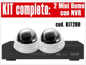 KIT2DO - Kit NVR 4 Canali con 2 DM13210