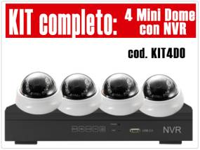 KIT4DO - Kit NVR 4 Canali con 4 DM13210